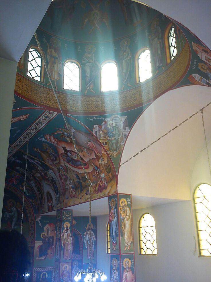 Τρουλος και φως .peaceful #orthodox church athens #greece