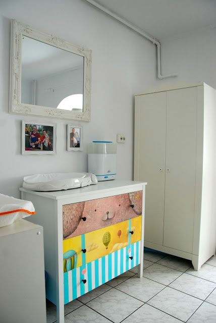 custom illustration on baby furniture
