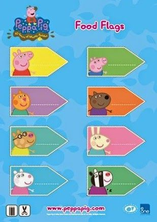 Idea to make the game marker flags personalised with peppa pig characters