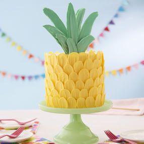 Brush Stroke Pineapple Cake