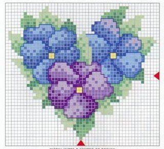 Punto de Cruz GRATIS: Minis de Flores