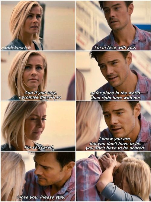 21. Katie has a hard time accepting love from Alex and his children. She is afraid of getting too caught up that she will lose herself again.