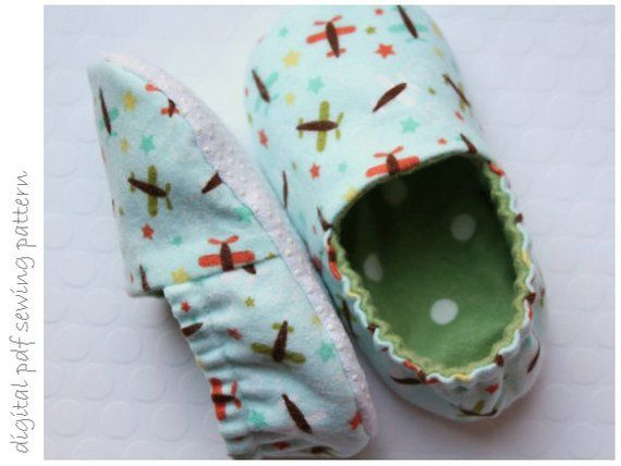 Kid Slipper Pattern Slipper Sizes 6 To 13 Etsy Baby Shoes Pattern Slippers Pattern Kids Slippers