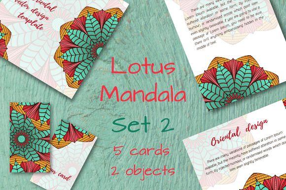 Lotus Mandala. Set 2 by Alla_Ri_Shop on @creativemarket
