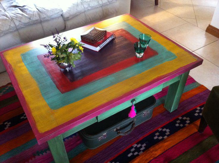 17 mejores ideas sobre mesas pintadas en pinterest - Muebles de colores pintados ...