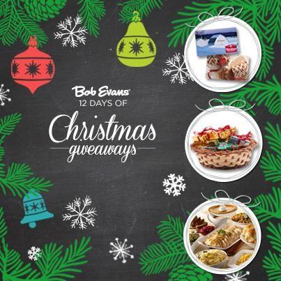 Bob Evans 12 Days of Christmas Sweepstakes WIN Bob Evans Gift ...