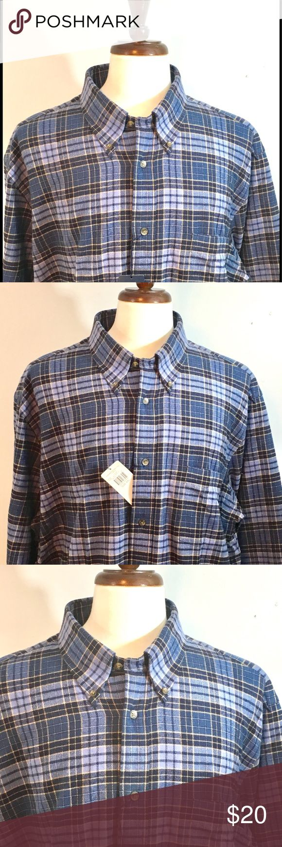GRANT THOMAS NWT PLAID 2XL FLANNEL Grant Thomas Plaid Button-up shirt in size XXL. Never worn, new with Tag! Retails for 39.99. Thomas Grant Shirts Casual Button Down Shirts