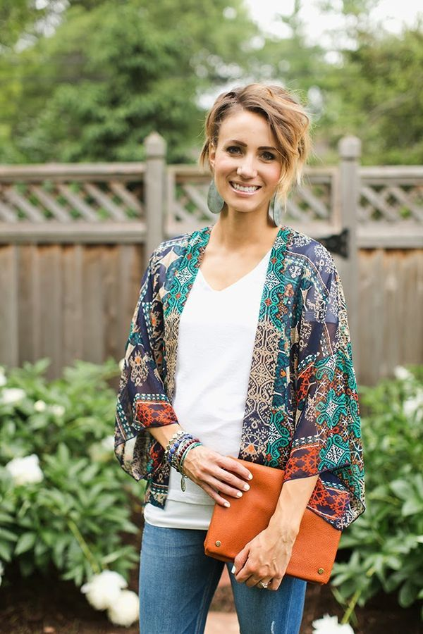 Style for over 35 ~ Kimono and Flare Denim