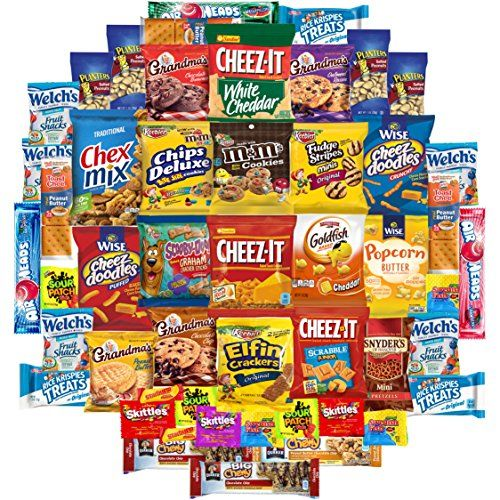 Cookies, Chips & Candies Care Package Variety Pack Bundle Sampler (50 Count) ** You can find out more details at the link of the image. (This is an affiliate link) #HealthySnacksForKids