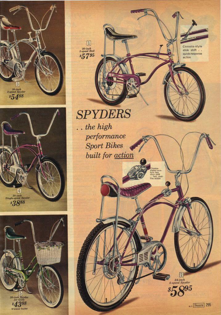 Purple banana seat bike (circa 1970s)