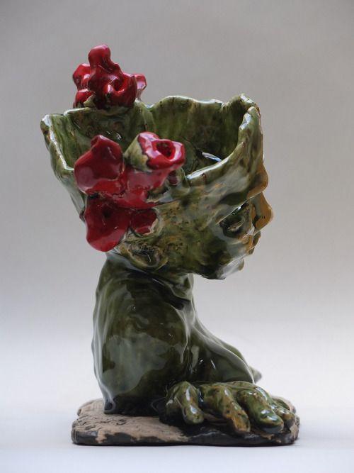 Matylda, 27x22 cm, ceramika, szkliwo, olej, 2016