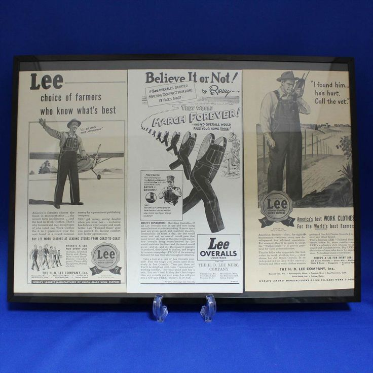 Lee 1940~46's Over Alls 広告額装品 - アメリカンヴィンテージ&アンティーク雑貨のファンクラップス/FunClaps