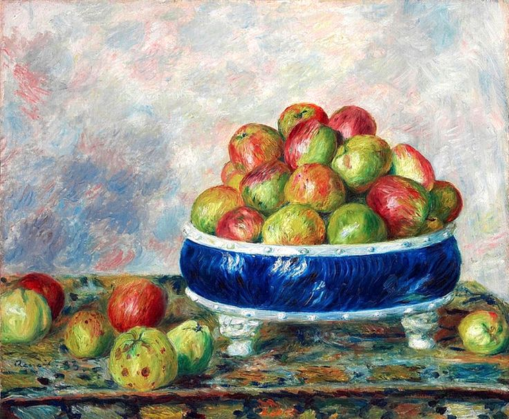 Pierre-Auguste Renoir - Apples in a Dish1883