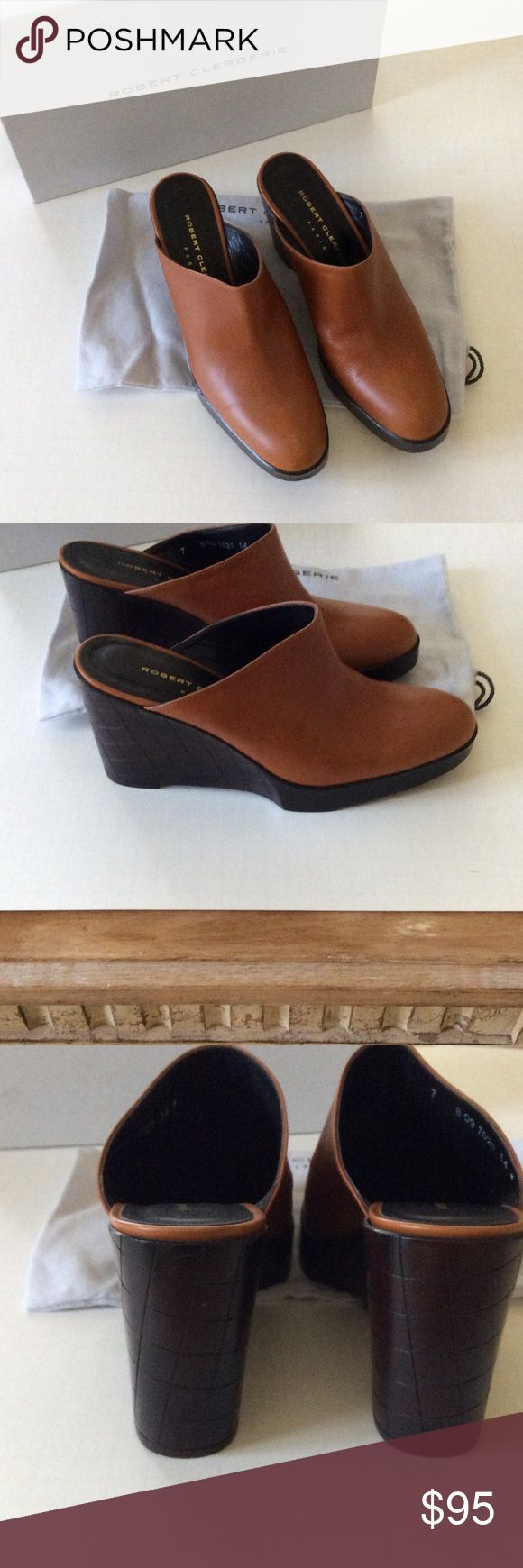 """Robert clergerie platform mule Beautiful calf leather platform mule with 3 1/2"""" heel..like new worn once Robert clergerie Shoes Mules & Clogs"""