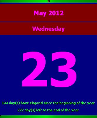 Desktop Calendar Page