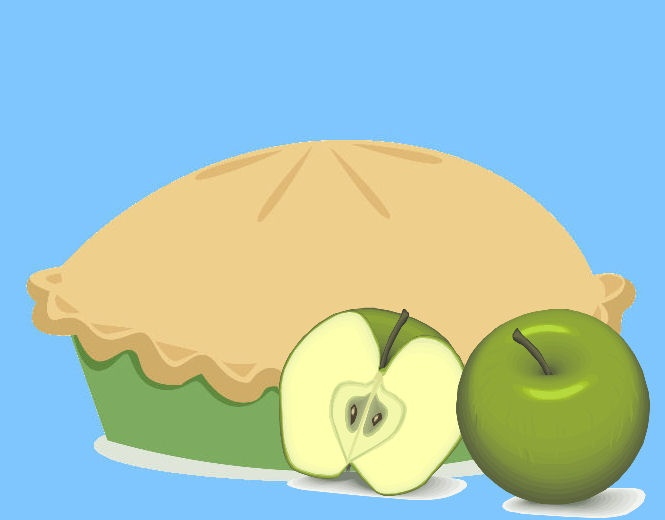Apple tart: Full colour, step by step guide created using Widgit symbols.