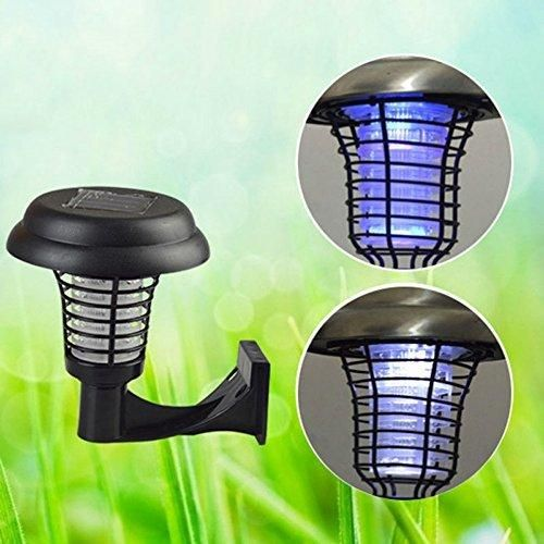 2in1LED Solar Power Mosquito Killer UV Lamp Mosquito Insect Pest Bug Zapper Killer Outdoor Garden Lawn Camping Landscape Light