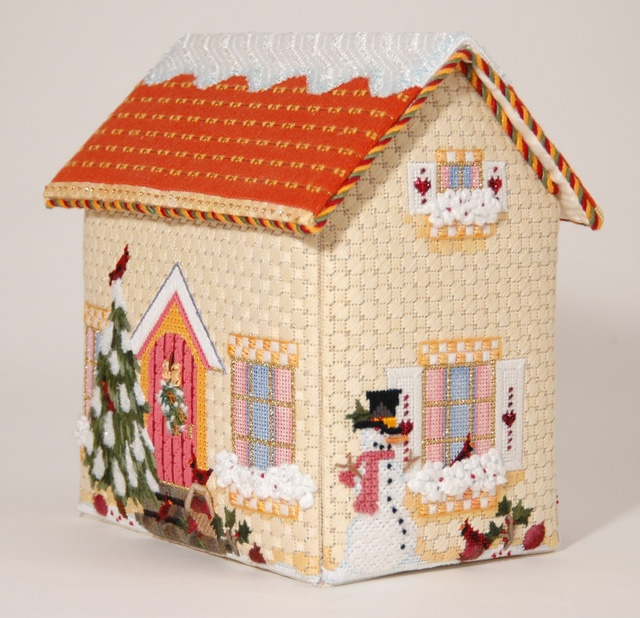 Amy Bunger Melissa Shirley Home Study - Winter House; Includes 5 pieces painted canvas, stitch guide, all threads. Sold with set of four houses; Retail $1,940; Sale $950. To reserve the set, contact Pamela Harding at Needlearts@comcast.net.