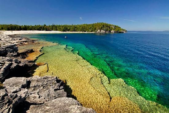 CHECK--Camping, Bruce Peninsula Provincial Park, ON. Crystal clear turquoise waters, caves to explore, shipwrecks for diving and snorkeling, hiking, canoeing, flowerpot island, the grotto, overhanging point, lions head and more.