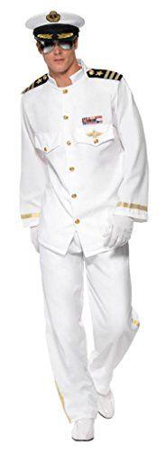 Smiffy's Men's Captain Deluxe Costume with Jacket Trouser…