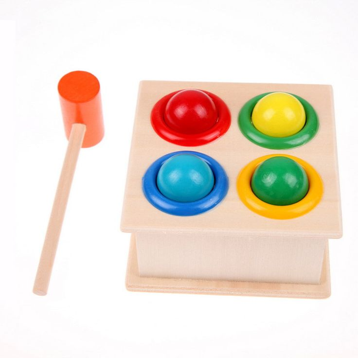 New Baby toys Early Learning Educational Toys Hammering Wooden Ball Hammer Box For Children New Year Gift