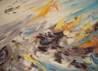 "Saatchi Art Artist André Pillay; Painting, ""Ebb and Flow"" #art  #saatchiart  #saatchiartist  #abstract #abstractart  #paintings  #painting"
