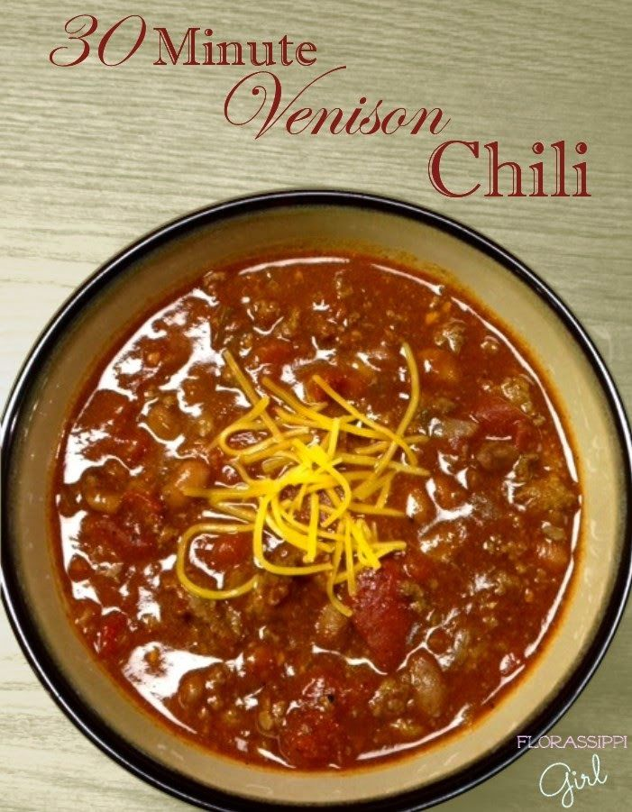how to cook chili with deer meat