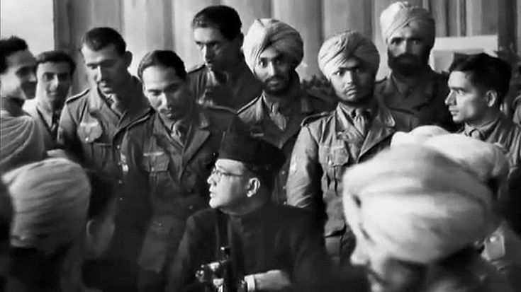 Chandra Bose with the Waffen-SS Azad Hind.                                                                                                                                                     More