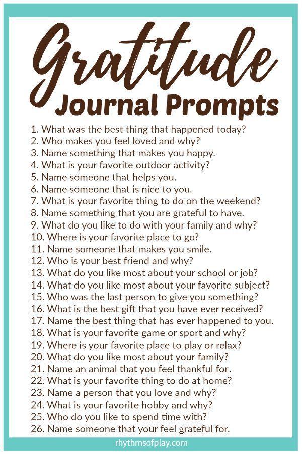 Gratitude Journal Prompts Printable Gratitude Journal Prompts Gratitude Journal Gratitude Prompts