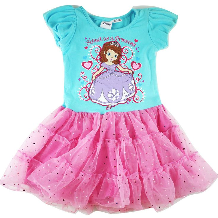New Kids Baby Girls Sofia The First Summer Dress With Tutu Layer Size 2 3
