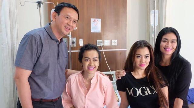 Bikin Haru...!! Semangat Julia Perez Bangkit, Usai Ahok Kunjungi Dirinya yang Terbaring di RSCM
