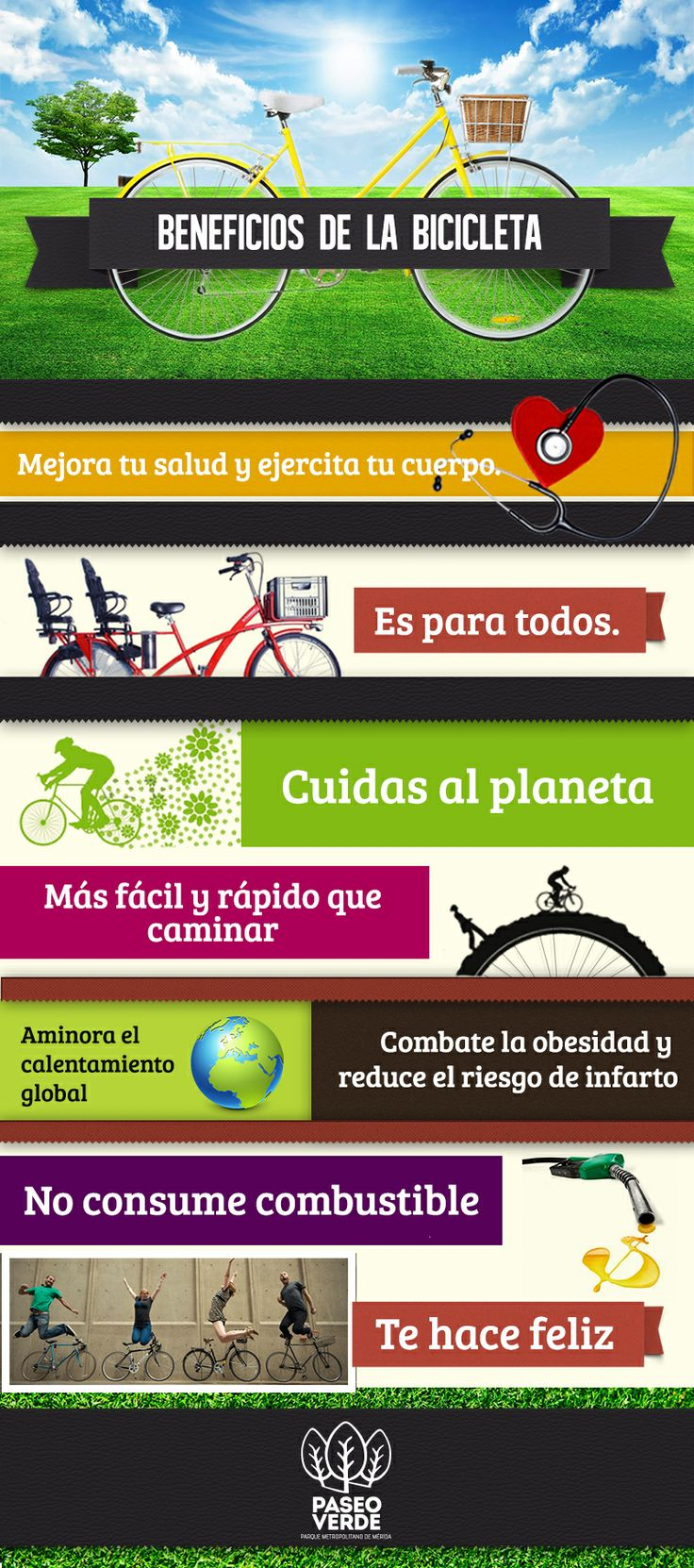 Infografía Bicicleta #Salud #BeneficiosBicicleta