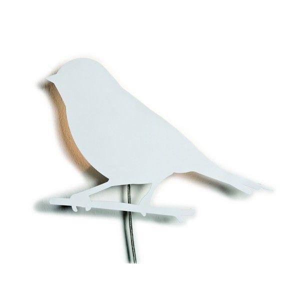 Lampe murale blanche oiseau