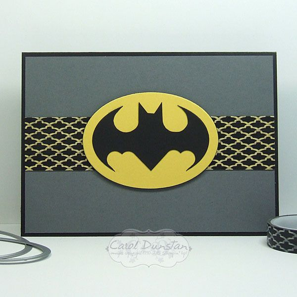 Batman card with stampin up happy haunting washi tape
