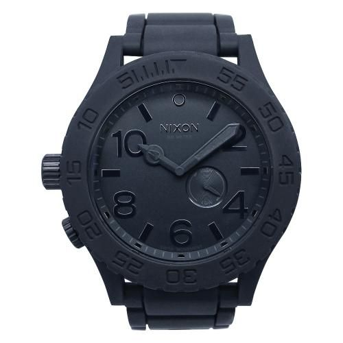 Stainless steel case Polyurethane strap Black dial Quartz movement Scratch resistant mineral Water resistant up to 30 ATM 300 meters, 990 feet. http://www.zocko.com/z/JJXCP
