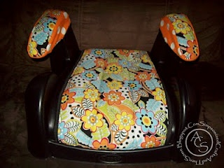 Booster seat re-cover tutorial