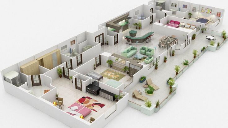 Massive house floors pinterest studios animation 3d for Interieur software