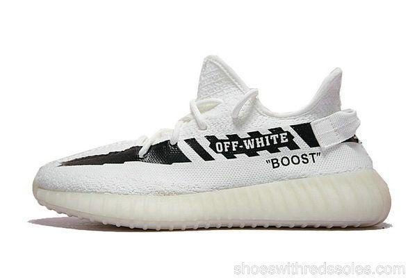 66111f22f0b Off-White X adidas Yeezy 350 V2 White Black