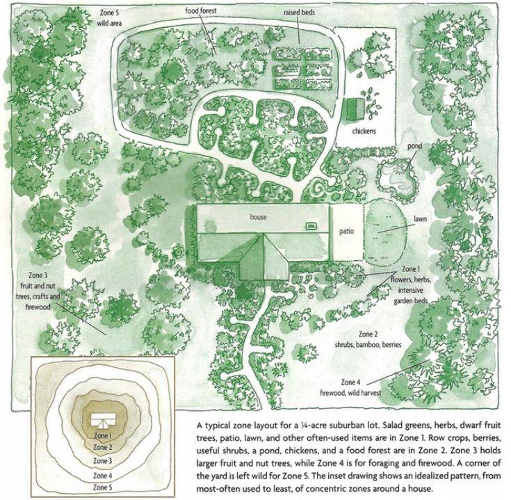 Les zones de permaculture Le concept de zone est particulier à l'approche dela permaculture.La définition de zones de production nous permetde concevoir des systèmes très efficaces enénergie.Ainsi, on ne se déplace pas pour rien et on netransporte pas de matières pour rien. Les zones et l'irrigation Les phases du design 1. Articulation des objectifs C'est …