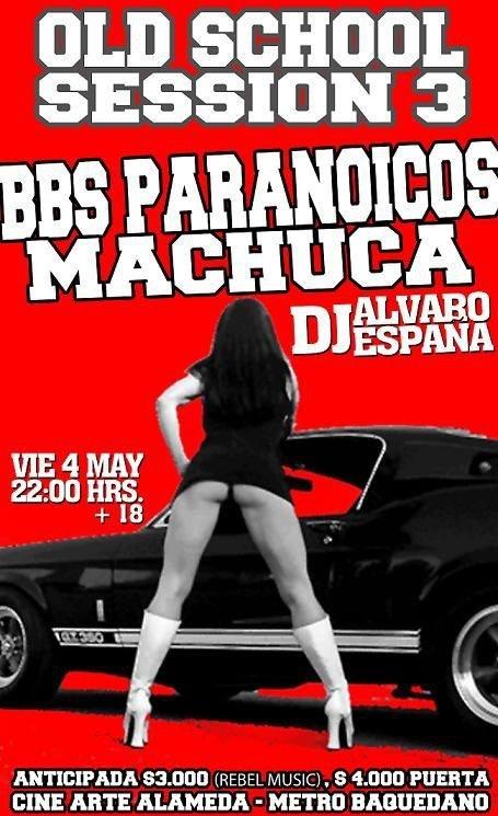 BBS Paranoicos y Machuca en vivo - Centro Arte Alameda http://www.productonacional.cl/bbs-paranoicos-y-machuca-en-vivo-centro-arte-alameda-4-de-mayo