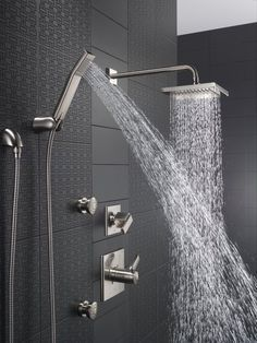 How to Build A Custom Shower System. Information on Complete Custom Shower Systems. Luxury Showers with Rain Showerheads, Handheld Shower Sprays, and Body Spray Jets.