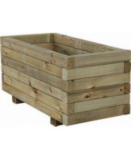 Jardiniere bois rectangulaire