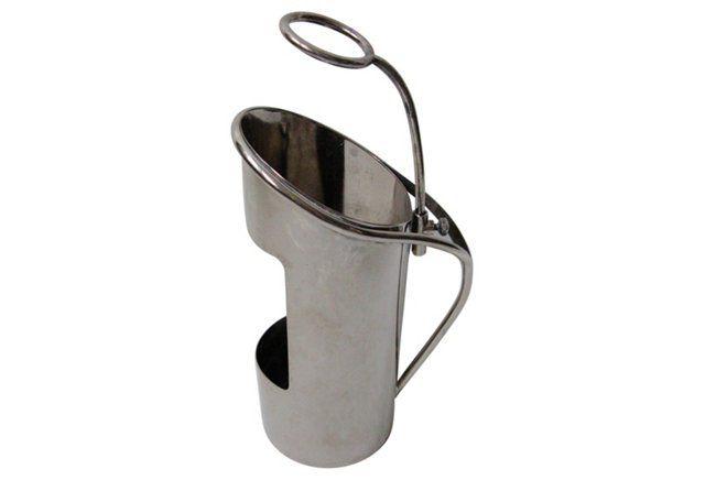 Midcentury Silver-Plate Wine Sleeve