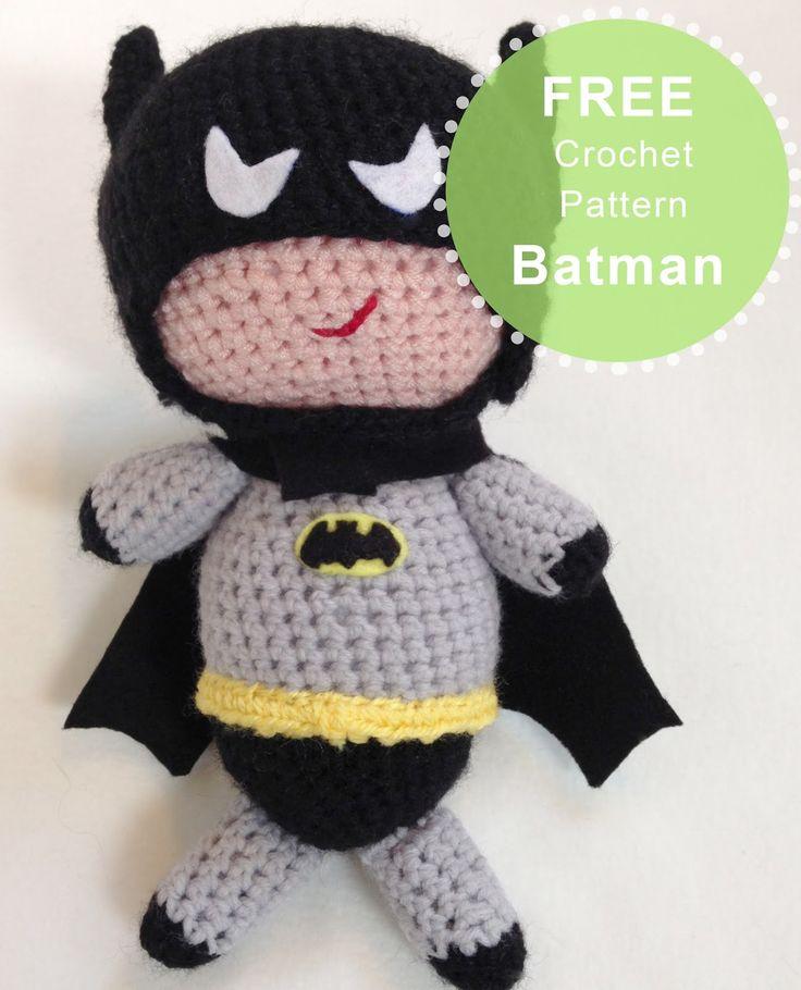 Magnífico Patrón De Crochet Libre De Batman Imagen - Manta de Tejer ...