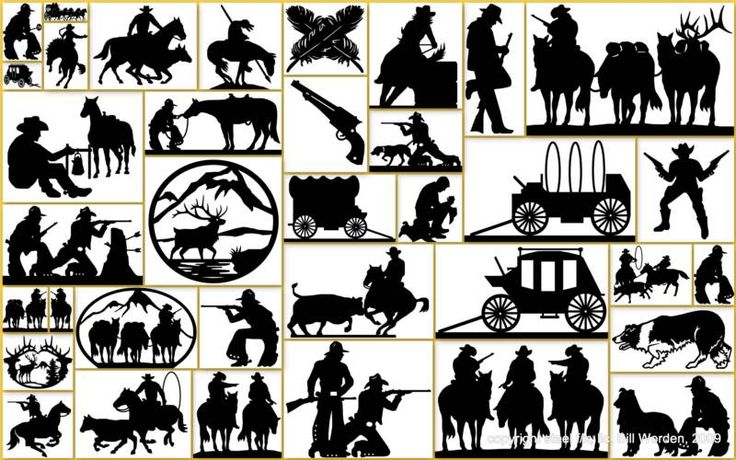 Silhouette Cutter Patterns | favorite collection of steel silhouette cowboy western lifestyle home ...