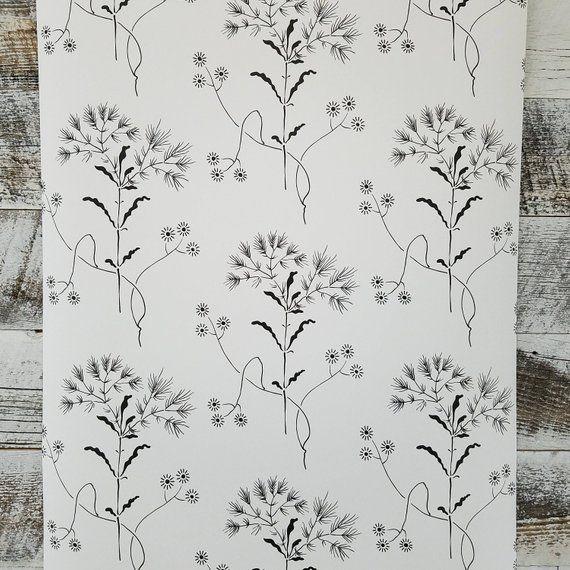 Wildflower Wallpaper ME1515 floral designer black washable SureStrip prepasted