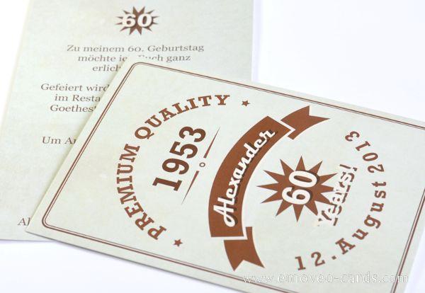 Vintage Birthday invitation card Biglietto compleanno stile vintage Vintage Geburtstagkarte www.emoveo-cards.com