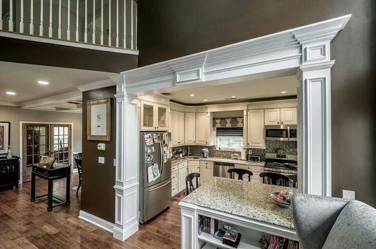 82 best columns interior decorating half wall bookshelf - Decorative columns interior ideas ...