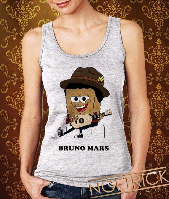 Bruno Mars SpongeBob Parody Women's Tank  by Ngetrick on Etsy, $20.50