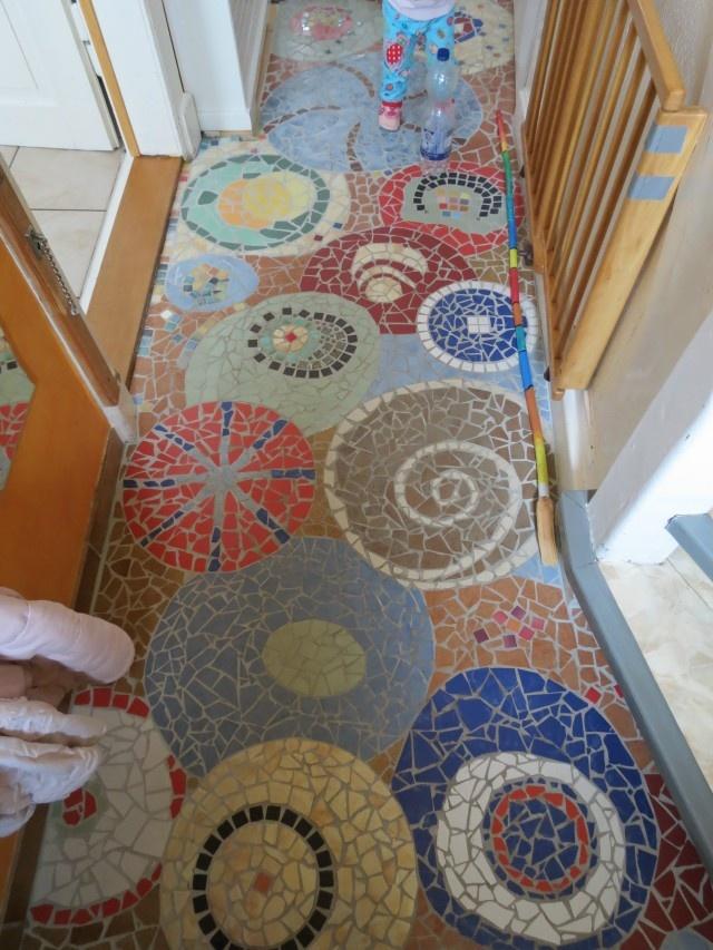 unser Hausflur Mosaic http://naehen-fuer-kids.blogspot.de/
